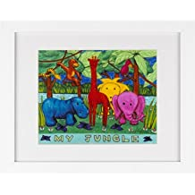 My Jungle Children's Room Amazon Framed Art Print Picture