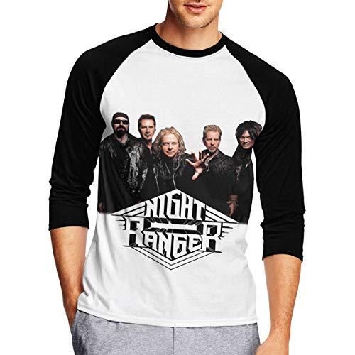 Long Sleeve T Shirt Men, Night Ranger Long Sleeve Tee Classic Casual Jersey Black ()