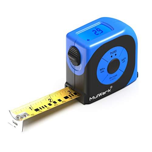 MulWark 16ft Digital Tape Measure, Large LCD Digital Display with Backlight, Feet/Inch/Metric Unit Conversion, Centerline Calculation, Inside/Outside Measurement | Measuring Tape for - Display Lcd Unit