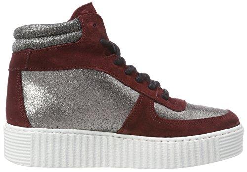 Sneaker Altas Plateado para Colour Silver Pspaloma Colour Silver Mujer Leather Pieces Zapatillas Unx7wEq