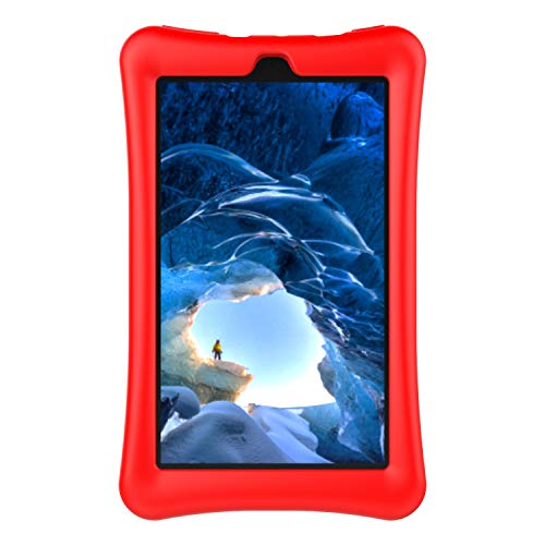F i r e 7 2019/2017/2015 Kids Silicone Case, Shockproof Light Weight Protective Kids Case for F i r e 7-inch Tablet (9th 2019 Gen/7th 2017 Gen / 5th 2015 Gen) (Red) (Inch Tablet 7 Rca Carrying Case)