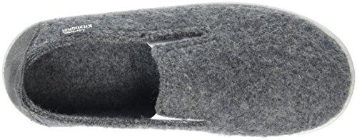 Living Kitzbühel Slip-On Gummi & Canvassohle - Zapatilla de estar Por casa Unisex Niños Gris - Grau (Grau 610)