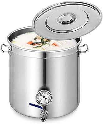 Husuper Cubo de Sopa de Acero Inoxidable de 55 x 55 cm Pote ...