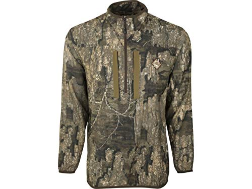 Ol' Tom Men's Tech 1/4 Zip Shirt Long Sleeve Polyester Realtree Timber Camo.
