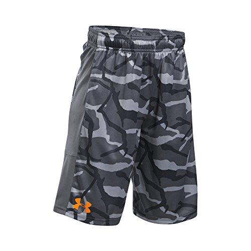 Under Armour Boys' Instinct Printed Shorts, Graphite/Graphite, Youth Medium