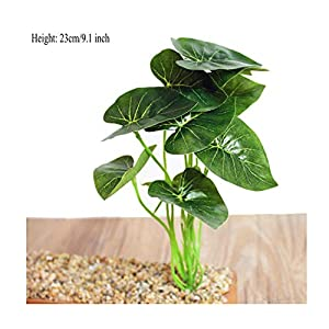 Green Leaf Plants Lotus Leaf Green Plants Fake Flowers Artificial Flowers Grass Silk Flower Decoration Home Decoration Shoots,D 29