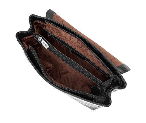 WITTCHEN Borsa classica, Nero - Dimensione: 18x27cm - Materiale: Pelle di grano -Accomoda A4: No - 35-4-055-1