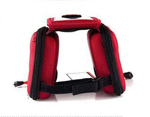 Fahrrad-Sattel-Pack - Schlauch vor dem Paket mit einem Mobiltelefon-Tasche - Rot