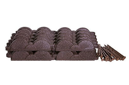 Valley View Industries 20 ft., 12 in. Pieces Dark Brown Rubber Edging by Valley View