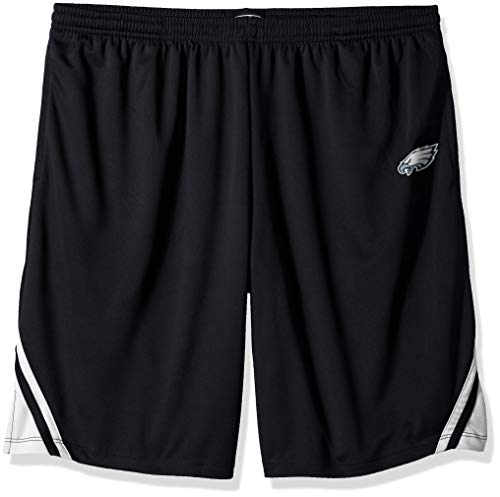 (OTS NFL Philadelphia Eagles Male NFL Poly Dot Athletic Short, Jet Black, Medium )