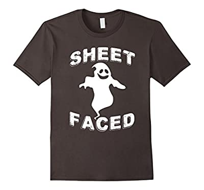 Sheet Faced Funny Halloween Drinking T-Shirt