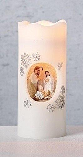 Nativity Pillar Candle - Roman 7