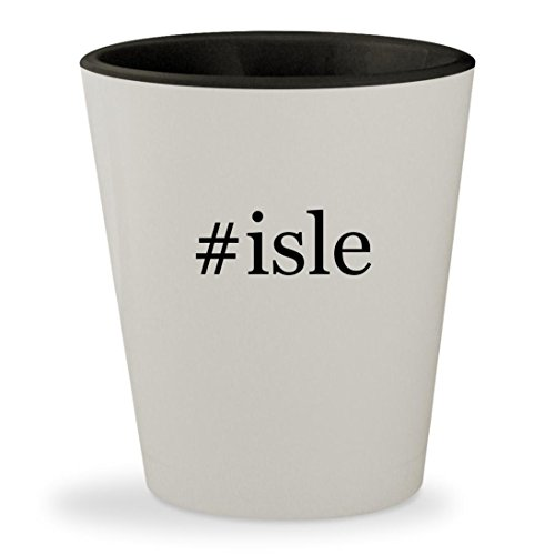 Price comparison product image #isle - Hashtag White Outer & Black Inner Ceramic 1.5oz Shot Glass