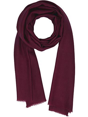 Cashmere Feel Wool Silk Blend Scarf Pashmina Women's Men's Shawl Tawny Port