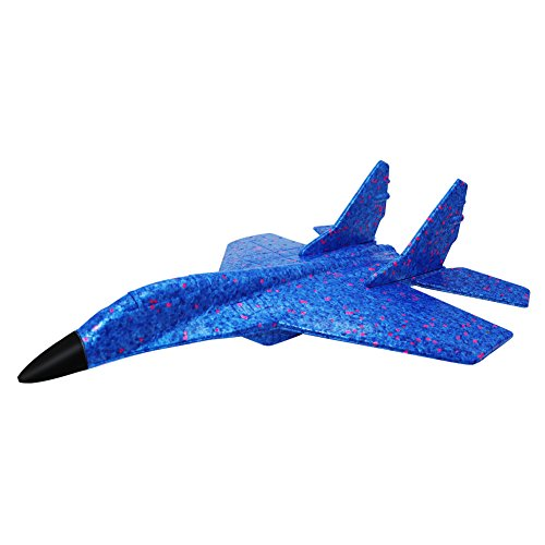 ELShen Upgraded Environmental EPP Foam Glider Fighter Hand Throwing Plane Inertia Launch 43.6cm Big Airplane Toys Funny Outdoor Playground Toys 17.2 inch (Camouflage ()
