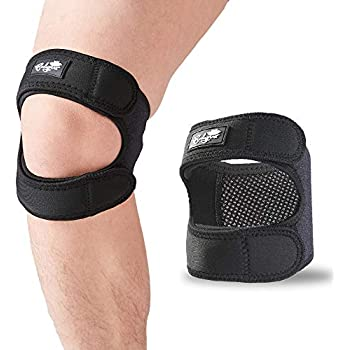 Patellar Tendon Support Strap (Large), Knee Pain Relief Adjustable Neoprene Knee Strap for Running, Arthritis, Jumper, Tennis Injury Recovery