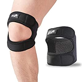 Patellar Tendon Support Strap (Large), Knee Pain Relief Adjustable Neoprene Knee Strap for Running, Arthritis, Jumper…