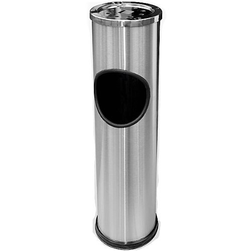 Deuba Stainless Steel Outdoor Rubbish Bin Cigarette Ashtray