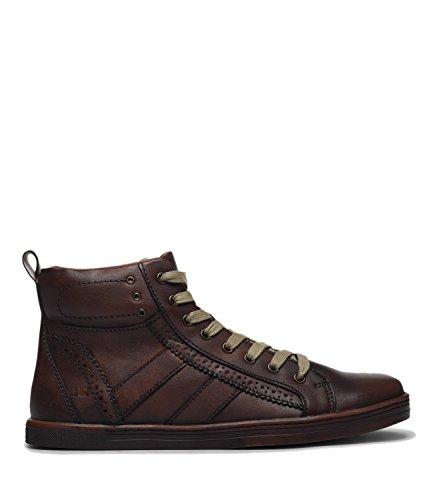 - Bed|Stu Men's Brentwood Leather high-top Sneaker (8 D(M) US, Mocha Dirty Veg)
