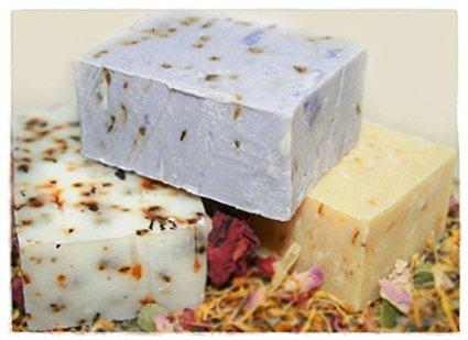 Organic Hibiscus & Lavender Goat Milk CP Soap Making Kit 2 lbs.
