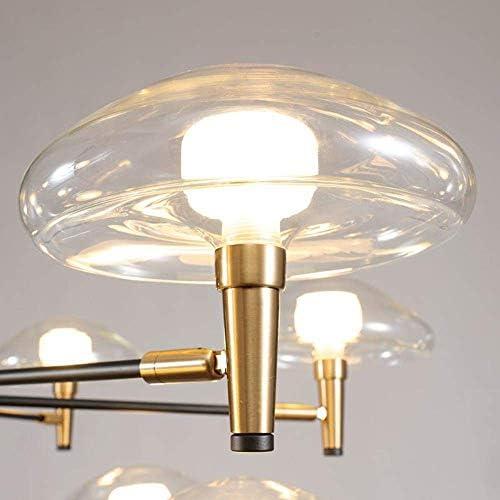 Kronleuchter Pendelleuchte LED Lampe Beleuchtung Eisen Glas Esszimmer Dekorative Leuchten Hängelampen für Wohnzimmer Pendelleuchten für Schlafzimmer Warmweiß 8 Köpfe