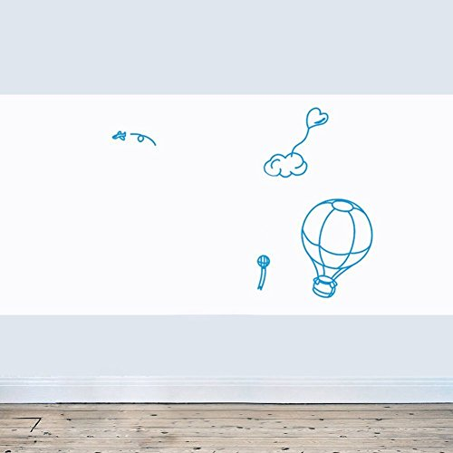 Huge Self-Adhesive Wall Whiteboard Decal Sticker Dry Erase Draw Board Peel and Stick Paper Roll Sheet White Board with Free Dry Erase Pen for School Office Home - Dimensions: 17.7