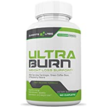 ULTRA-BURN Powerful Weight Loss Pills and Appetite Suppressant PLUS Carb Blocker with Garcinia Cambogia, Green Coffee Bean, Raspberry Keones, Acia Berry - 60 caplets