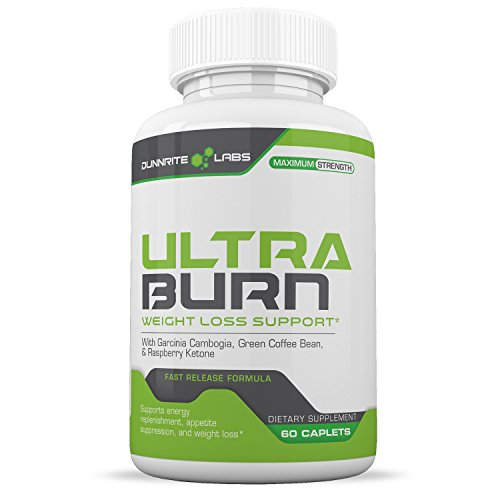 ULTRA-BURN Powerful Weight Loss Pills and Appetite Suppressant PLUS Carb Blocker with Garcinia Cambogia, Green Coffee Bean, Raspberry Keones, Acia Berry – 60 caplets Review