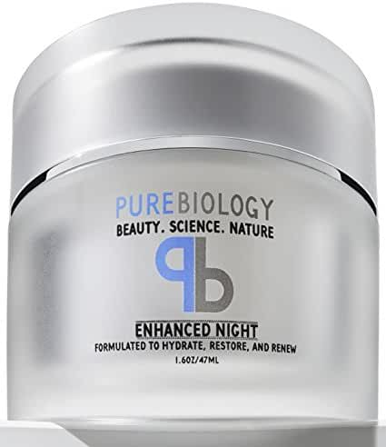 Pure Biology Anti Aging Night Cream w/ Pure Retinol, Hyaluronic Acid & Breakthrough Anti Wrinkle Technology – Moisturizer For Face & Neck (1.6 ounces)