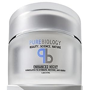 Pure Biology Night Cream Face Moisturizer with Retinol, Hyaluronic Acid & Breakthrough Anti Aging, Anti Wrinkle…