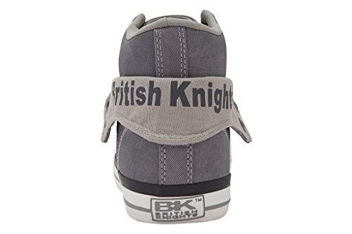 British Knights Roco - Zapatillas deportivas de caña alta para hombre Gris