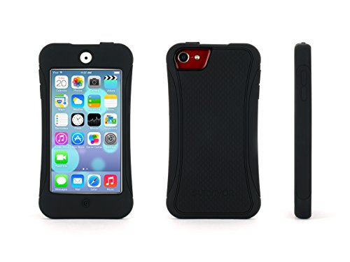 Griffin Black Survivor Slim Protective Case for iPod touch (5th/ 6th gen.) - Mil-Spec Rugged Case Slimmed Down for the Street Griffin Ipod