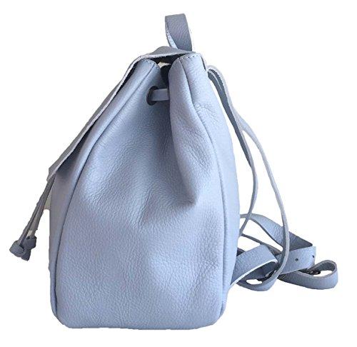 ATELIERS FLORENTINS - Bolso mochila  de Piel para mujer azul cielo