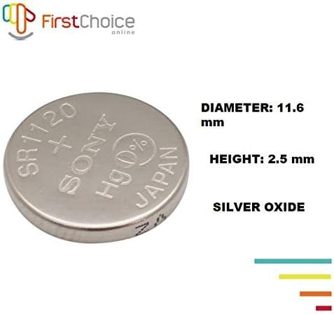 Pack of 5 391 Sony Silver Oxide 1.55V Batteries Size SR1120SW