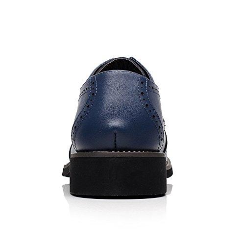 Blu Pelle Lavoro Scarpe Rismart Area Oxfords Affari Uomo Crosta Di Navy Condimento XYAvw