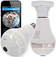 Câmera lâmpada espiã ip segurança com visão noturna sensor de presença alarme e alerta no celular android e io