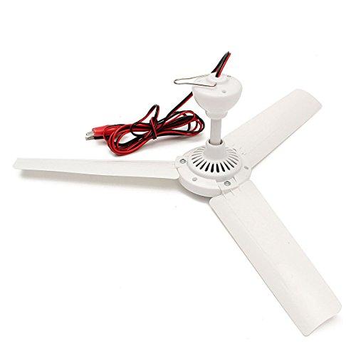 SENREAL Energy-saving Portable Ceiling Fan Electric Anti-mosquito Mute Mini Ceiling Fan (12V 6W Fan) by SENREAL