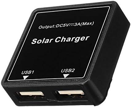Queenwind DIY ソーラーワイヤボックス 5-20V ~ 5V 3A レギュレータソーラーソーラーパネル用ダブル USB ジャンクションボックス