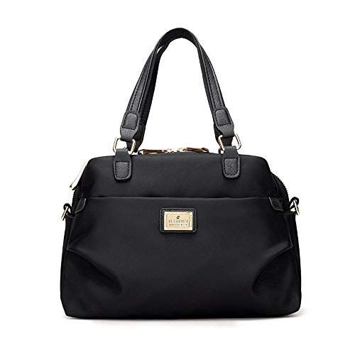 Bolso Totalizador Style Paquete Nylon Pequeño De Black Hombro Bandolera xwZI10w7