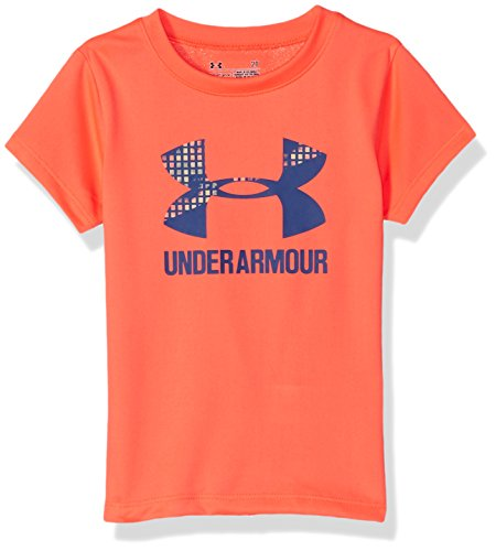 Under Armour Girls' Big Logo T-Shirt, London Orange, 5 ()
