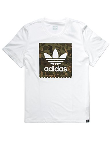 adidas Originals Men's Tops | Blackbird Logo Tee, White/Camo/Logo Remix, - Remix Original