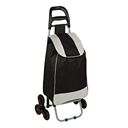 Honey-Can-Do CRT-03933 Large Rolling Knapsack Bag Cart with Tri-Wheels for Steps, Holds up to 40-Pounds, Black by Honey-Can-Do