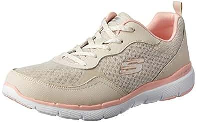 Skechers Australia Flex Appeal 3.0 - GO Forward Women's Training Shoe, Natural/Pink, 5 US