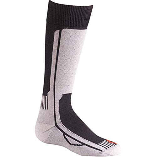 FoxRiver Wick Dry Turbo Jr. Over The Calf Socks, Black/Silver, Small