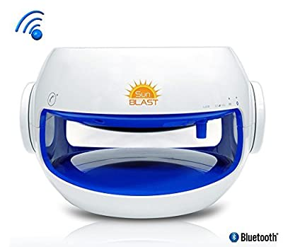 Pyle Sunblast 2-in-1 Portable Bluetooth Solar Power Wireless Water-Resistant Speaker System with Built-in Mic for Hands-free Call Answering