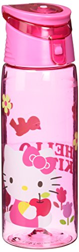 zak-designs-tritan-water-bottle-with-flip-top-cap-with-pink-hello-kitty-graphics-break-resistant-and