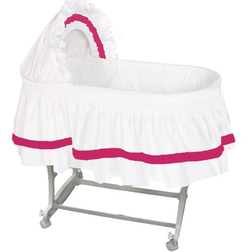 aBaby Modern Style Short Bassinet Skirt, Fuchsia, Small by Ababy