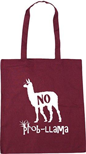 No Bag 10 42cm HippoWarehouse Shopping Burgundy x38cm Gym Beach Prob litres Llama Tote TqdqOBSw