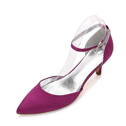 Noche Boda yc Más Para De Punta Colores Con L Zapatos Disponibles Sandalias Boda Y fiesta Purple Mujer 4xzqFqw7