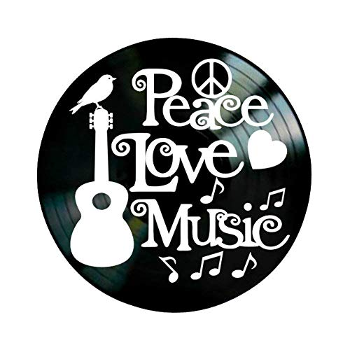 Peace Love Music Quote on a Vinyl Record Wall Artwork Album -